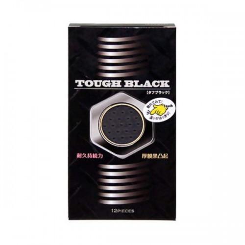 TOUGH BLACK 厚黑凸點安全套-12片裝