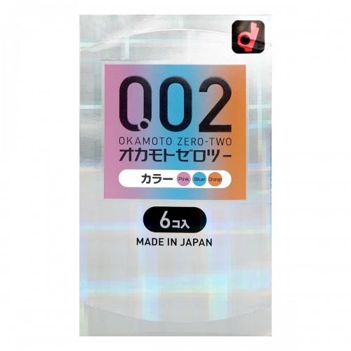 岡本 薄度均一 0.02EX 3-色系 (日本版) 6 片裝
