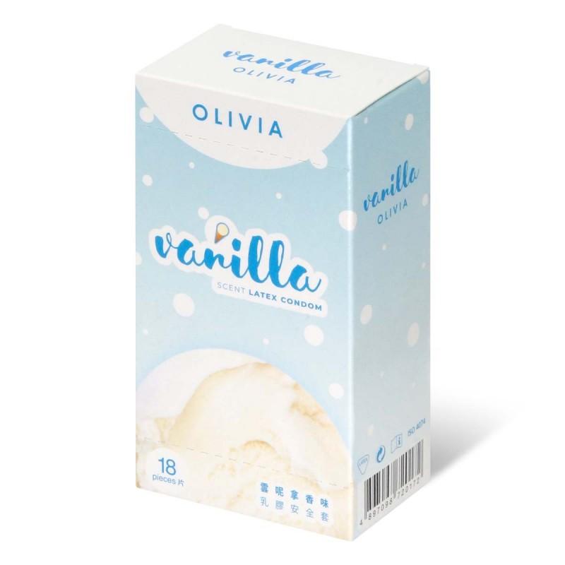 奧莉維亞 雲呢拿香味口交專用安全套 18 片裝 乳膠安全套