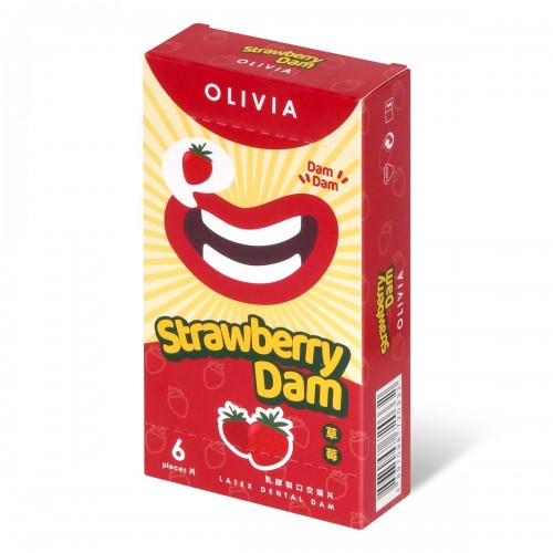 奧莉維亞 草莓香味 6 片口交膜片