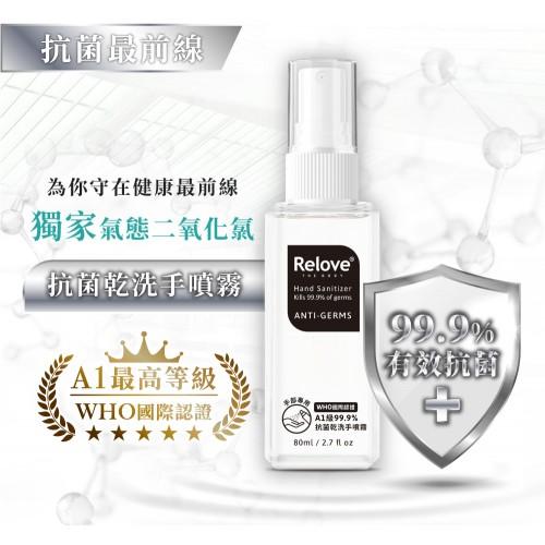 Relove A1級安泰菌 - 乾手洗噴霧 Anti-Germs 80ml