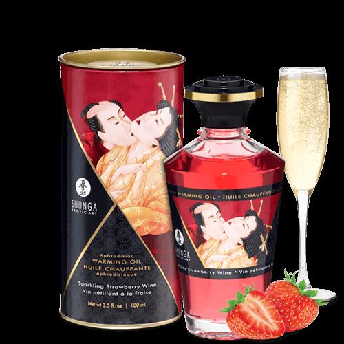 SHUNGA 草莓香檳熱感按摩油