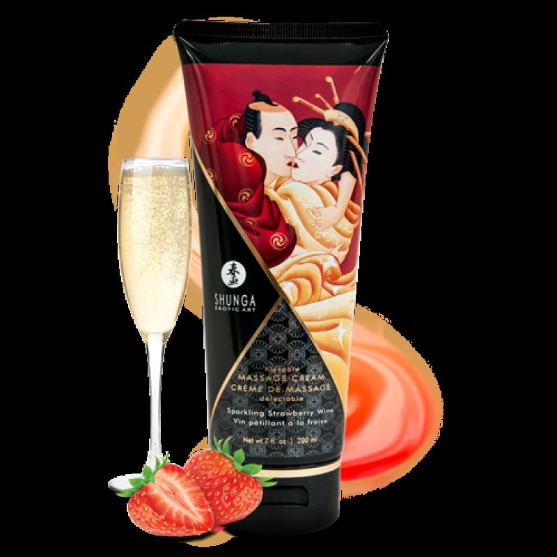 SHUNGA 可食用按摩乳霜-草莓香檳