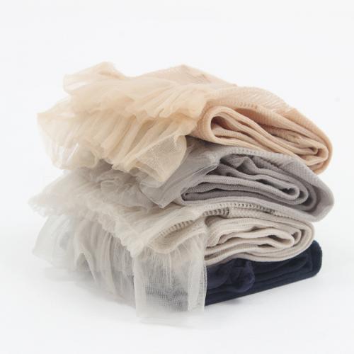 HENNY RUE 天鵝絨女襪日系蕾絲花邊超薄公主襪堆堆襪